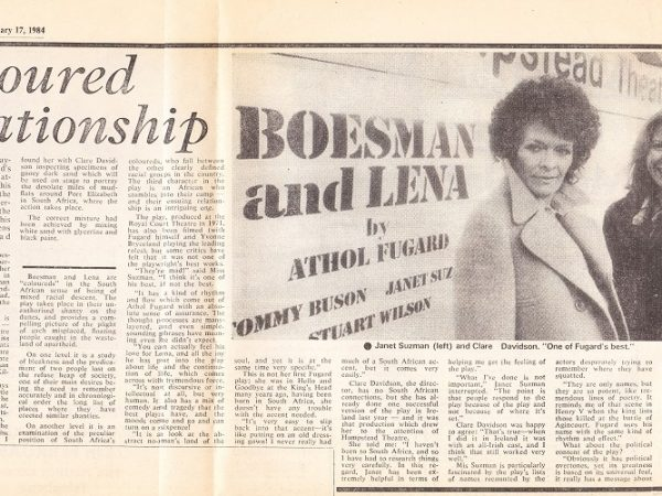 Boesman and Lena press